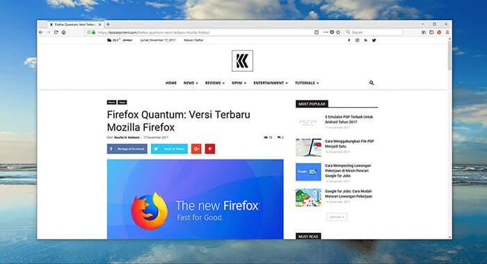 Firefox Quantum: Keunggulan dan Fitur-fitur Baru