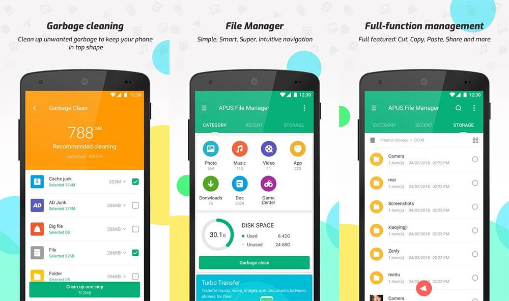 Aplikasi File Manager Terbaik di Android: APUS File Manager