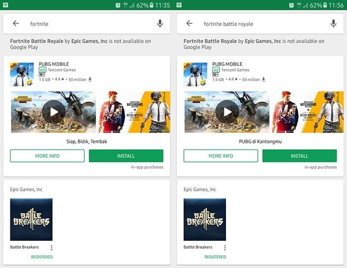 Fortnite Tak Tersedia di Play Store, Google Memberi Peringatan
