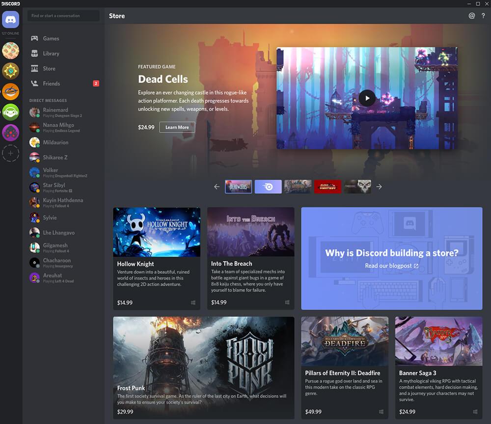 Ingin Saingi Steam, Discord Meluncurkan Toko Permainan