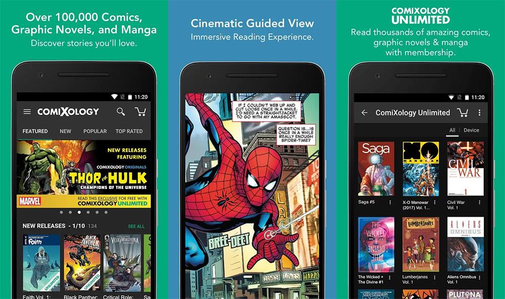 Aplikasi Baca Komik Terbaik di Android