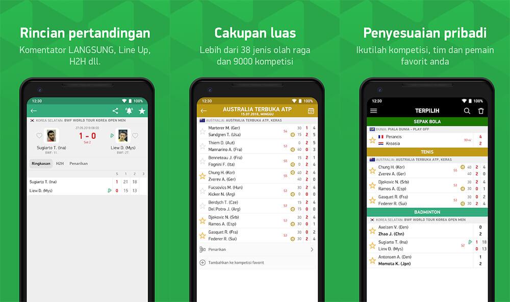 Aplikasi Livescore Terbaik di Android