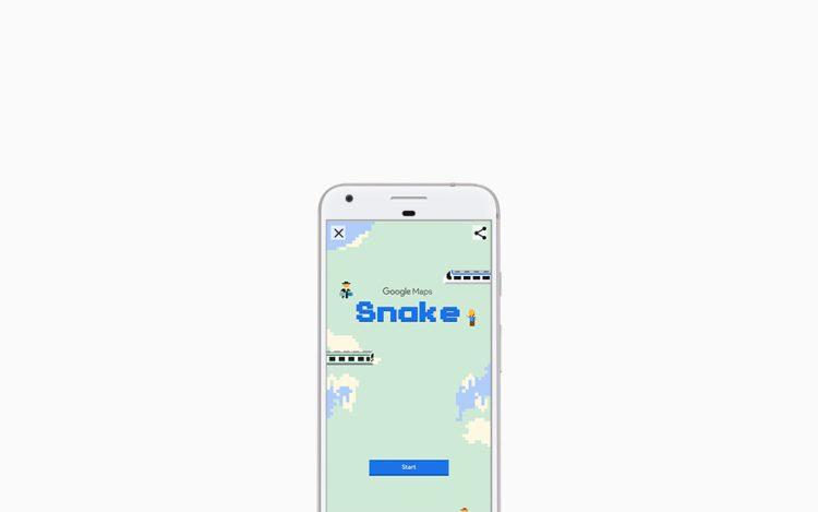 April Mop: Ada Permainan Klasik Snake di Google Maps