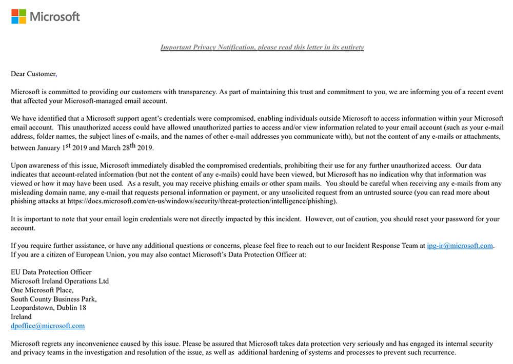 Microsoft Umumkan Terjadinya Peretasan pada Akun Outlook