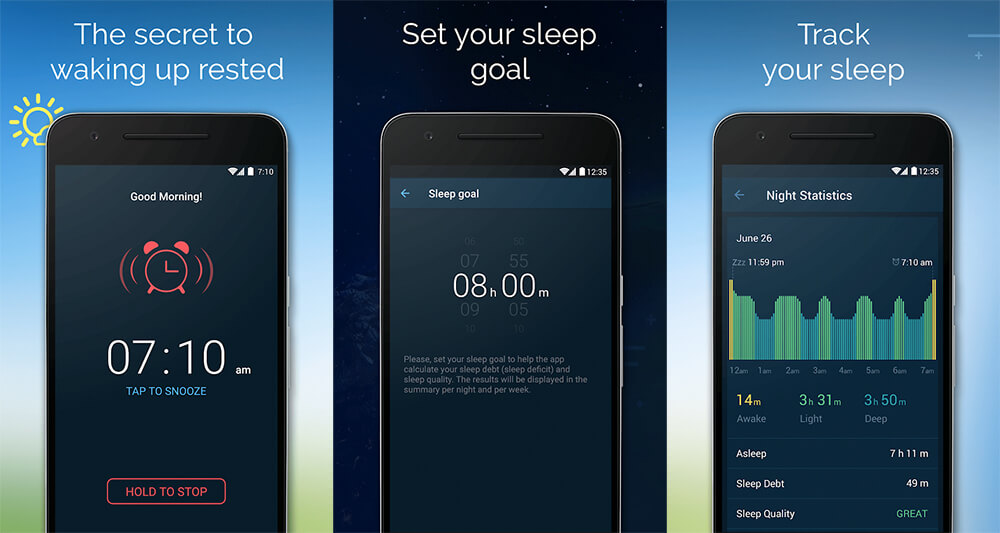 Aplikasi Alarm Terbaik di Android: Good Morning Alarm Clock