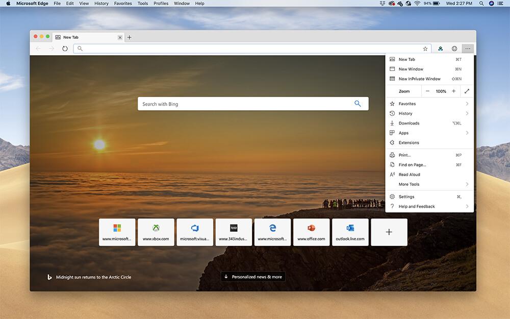 Microsoft Edge Berbasis Chromium Meluncur untuk Mac dalam Versi Pratinjau