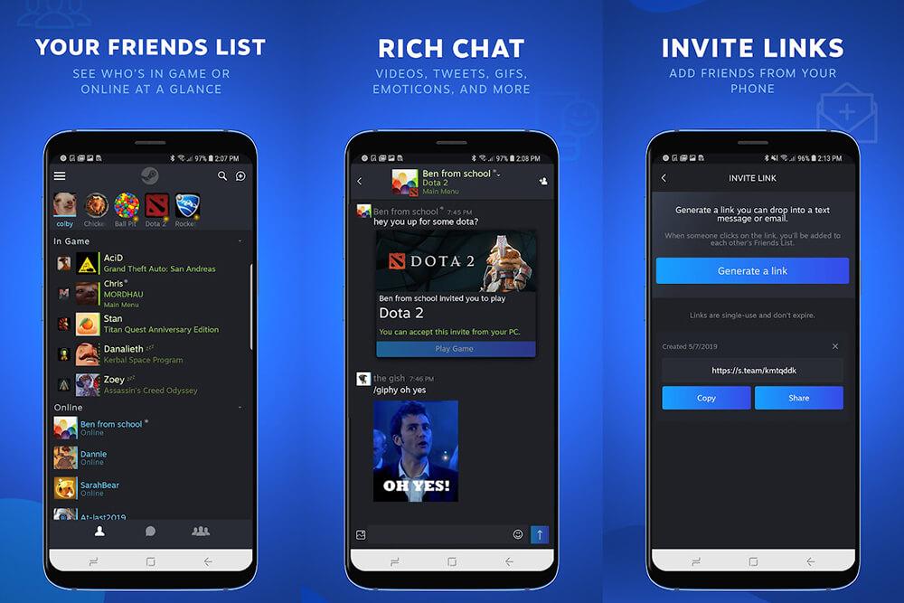 Valve Luncurkan Steam Chat untuk iOS dan Android