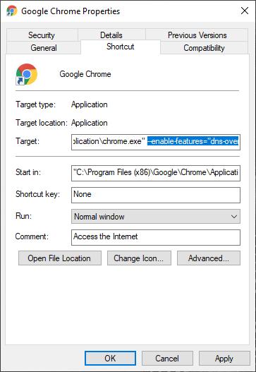 DNS-over-HTTPS Google Chrome