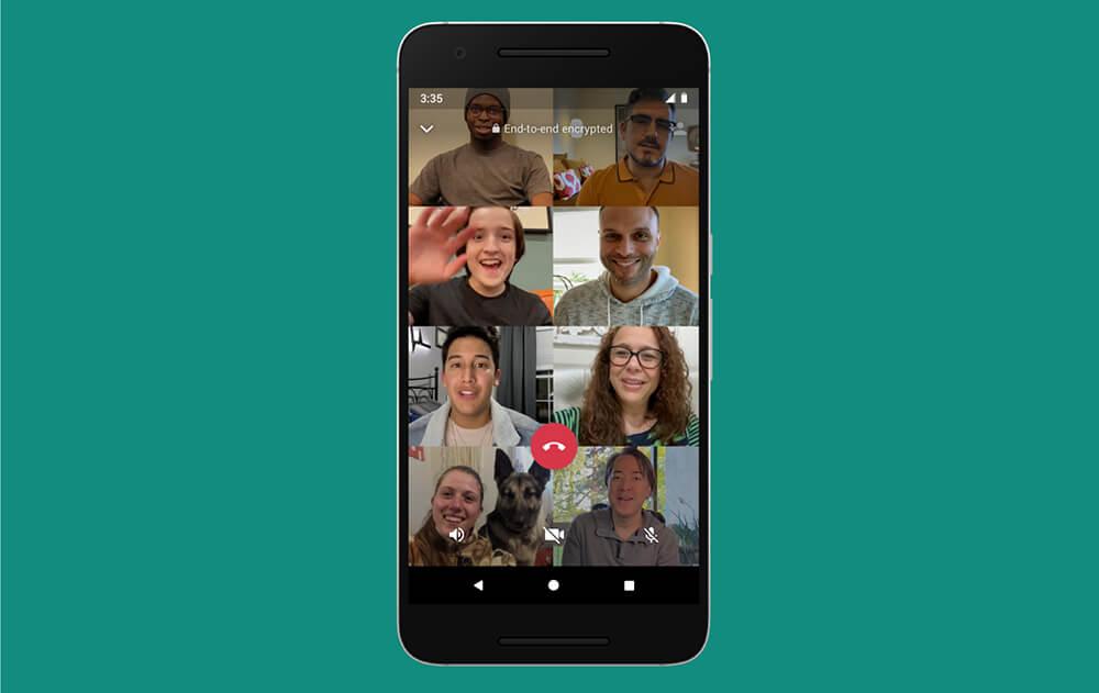 WhatsApp Kini Mendukung Panggilan Video hingga 8 Pengguna