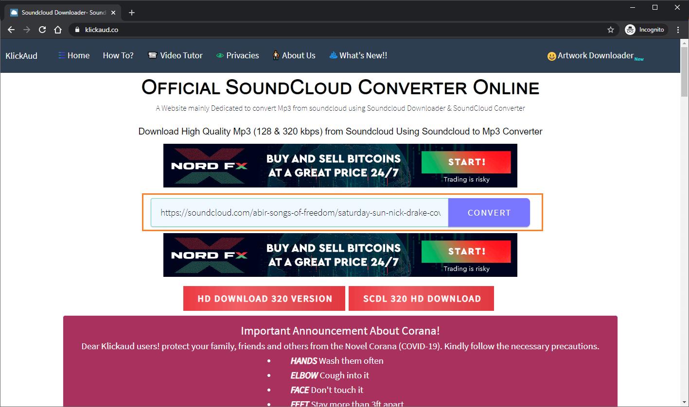 Mengunduh Lagu dari SoundCloud
