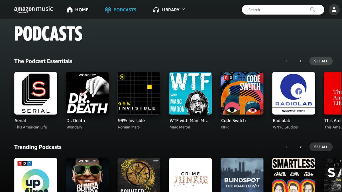 Amazon Music Kini Menawarkan Podcast